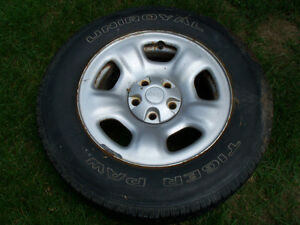 JEEP RIMS AND TIRES SET OF 4