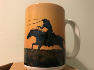 Brand New coffee Mug $5 Cowboy on horse