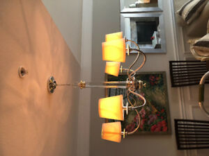 6 light chandelier with shades