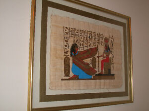 Egyptian Hand-Painted Papyrus Artwork