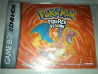 Pokemon Fire Red Version original manual