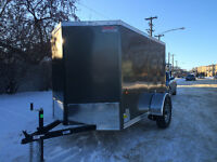 Brand New (2016) 5x8 V-nose enclosed trailer- Must Sell!