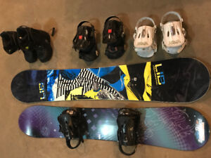 His and hers snowboarding gear