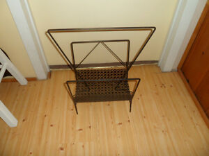 Vintage Black Magazine Rack