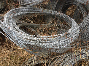 Razor wire, keep your area protected