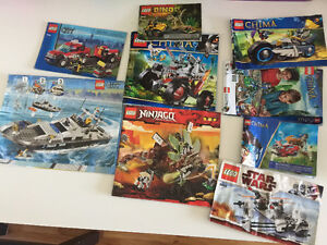 LARGE COLLECTION OF LEGO WITH BOOKLETS AND MINI FIGURES