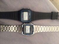 2 Casio watches unisex