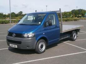 2010 60 VOLKSWAGEN TRANSPORTER 2.0TDi 140PS LWB T30 10ft FLATBED PICK UP TRUCK