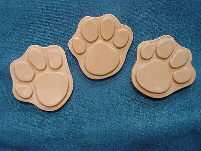 Dog Cat Paw Foot Print Footprints Soap Plaster Mold Set of 3  4502 Moldcreations
