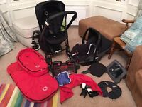 Bugaboo Bee and Maxi Cosi travel system- well cared for and thoroughly washed