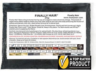 Keratin Hair Fibers 57g Refill Bag Hair Loss Concealer Toppik Compatible fibers