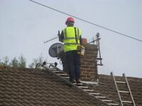 Satellite dish removal installation pointing repair