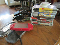 PSP-Red-God Of War Edition with Games & Charger cord