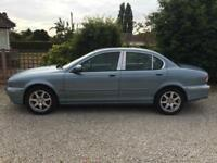**JAGUAR X-TYPE 2.1 V6 SE IN ZIRCON BLUE METALIC LOW MILEAGE**BARGIN