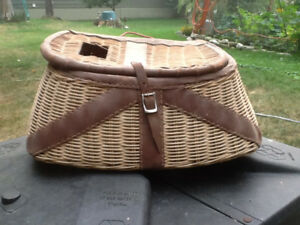 Collectors Vintage Wicker Fish Basket