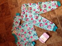 NEW 2 piece pjs and gymboree tights