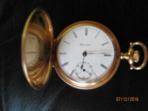 E.Howard Gold-Fill Triple Case Pocket Watch (in orig.Box)