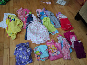 Large lot of girls size 2T clothes