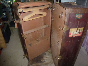 Antique- Wardrobe trunk- valise garderobe