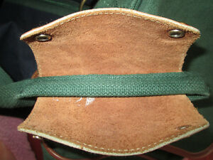 LARGE GREEN AND DARK BLUE BAG WITH LEATHER HANDLES LIKE NEW COND West Island Greater Montréal image 6