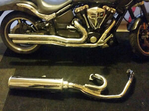 Stock exhaust from a 2002 Yamaha Warrior
