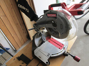 "Scie à onglet CRAFTSMAN 10"" 3HP Mitre Saw + 2 lames/blades"