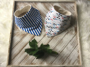Set of Baby Bibs  With Fish Print