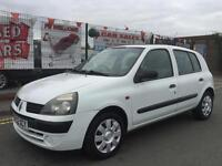 RENAULT CLIO 1.5DCI 65 EXPRESSION 5DR 2002 WHITE **£30 ROAD TAX **FULL MOT