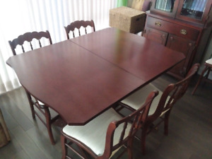 Antique Dining Room Table and China Cabinet