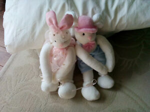 Two cute stuffed bunnies