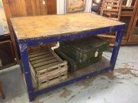 Vintage Industrial Workbench , kitchen Island Cafe/Restaurant