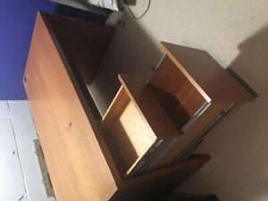 Solid teak office desk
