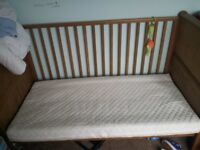 Cot bed and Mattress 3 positions
