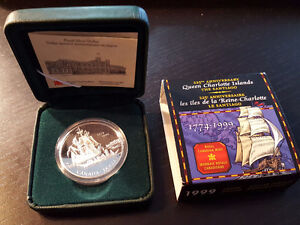 225th Anniversary Queen Charlotte Islands Proof Silver Dollar Co West Island Greater Montréal image 1