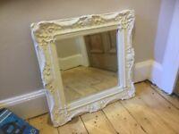 White ornate mirror
