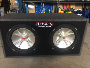 """2x12"""" kicker subwoofer and amp"""