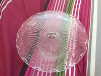 Glass cake stand (10 inch in width)
