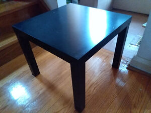 IKEA Lack End Table Black-Brown