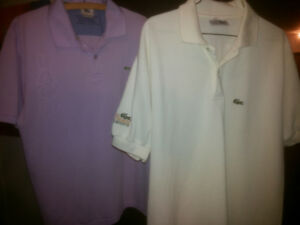 Lacoste Polo Shirt and Dress Shirt  Made In France  Various New