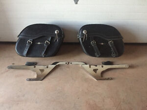 Saddle bags / chrome mounts