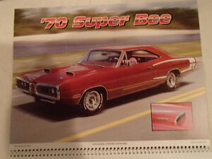 New 2001 MEMORABLE MUSCLE CARS 12 Month CALENDAR. Issued by APC. Sarnia Sarnia Area image 2