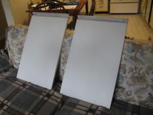 2 Sets of Similar White Vanity Cabinet Doors