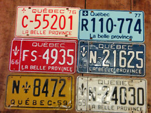 Plaques minéralogiques de la province de Québec