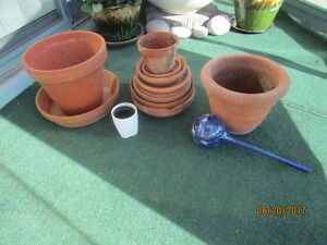 FLOWER POTS AND SAUCERS