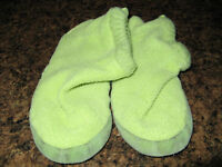 Childrens Place slippers!!  Size 1-2  LIME