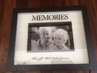 "Brand New ""memories"" Shadow Box Photo Frame"