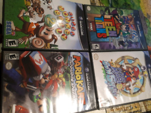 Nintendo Gamecube games, original controllers and memory card