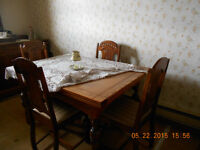 Antique Dining Room Table/Chairs.Buffet and Hutch