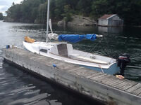 19 Ft. O'Day Sailboat with Tandem Trailer!