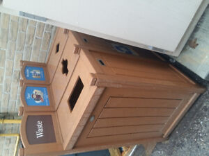 3 stream Outdoor Garbage & Recycling unit